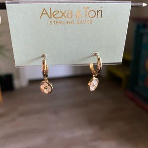 Alexa and Tori Gold Sterling Silver earnings